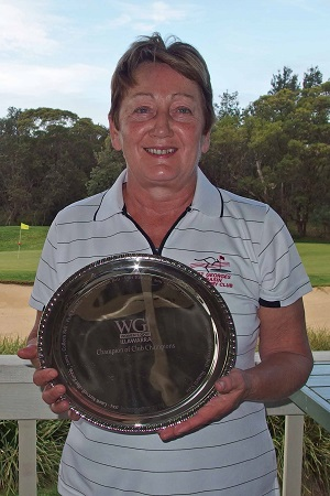 Deb Weeks from St Georges Basin won the prestigious Champion of Club Champions