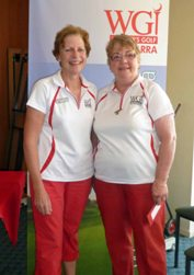 Di Lewis and Barb Howsan combined as the Foursomes Div 1 Net winners.