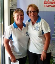 Carol Bailey and Janette Bessell, Foursome Net Division 1 Winners.